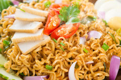 Close up Dry Instant Noodle Stock Photo