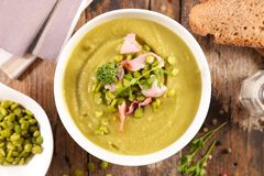 Dry pea soup. Close up on dry pea soup stock photos