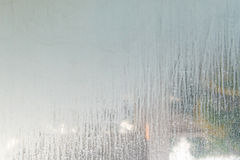 close up dry water stains on the glass wall in bathroom stock image