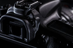 Close up of DSLR camera Royalty Free Stock Photography