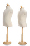 Close up of dummies on white background Stock Photos