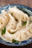 Close up dumplings soup Royalty Free Stock Photos