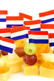 Close up of Dutch cheese Stock Photography