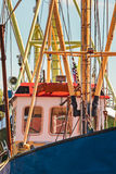 Close up of a Dutch fishing boat Royalty Free Stock Images