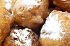 Close up of dutch oliebollen Stock Photos