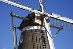 Close up of a Dutch windmill stock photography