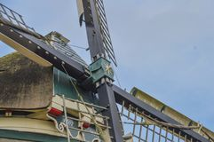 Close Up Of A Dutch Windmill Stock Photo