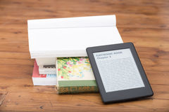 Close Up of an e-book reader Royalty Free Stock Images