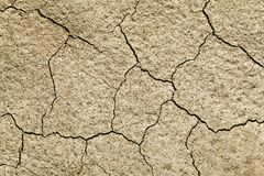 Cracked earth close-up. Close-up of earth cracked because of drought Stock Image