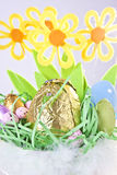 Close-up of Easter Basket Stock Photo