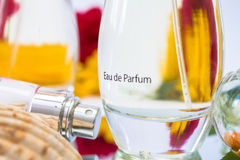 Close up of Eau de Parfum Royalty Free Stock Photo