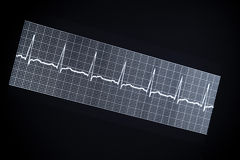 Close up of a ECG EKG tape Royalty Free Stock Photography