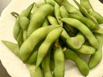Close up of Edamame soy beans. V Stock Image