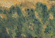 Close-up - een deel van olieverfschilderij Stock Afbeeldingen