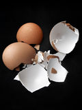 Close-up of egg shells Royalty Free Stock Images