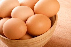 Close up of eggs in bowl Stock Photography