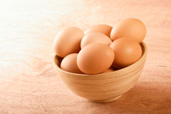 Close up of eggs in bowl Royalty Free Stock Photography