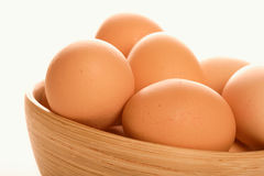 Close - up of eggs in bowl Stock Photos
