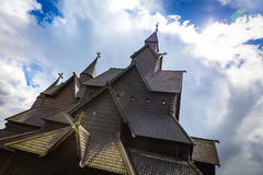Close-up of eidsborg wooden stave church in Telemark Norway Stock Photo