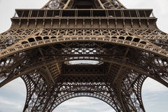 Close-up of the Eiffel Tower royalty free stock photography
