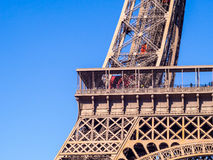 Close up of Eiffel tower under blue sky Stock Photography