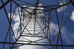 Close up elétrico da torre fotografia de stock