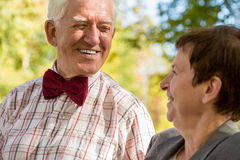 Close-up of elderly man Stock Images