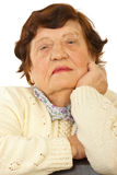 Close up of elderly woman face Stock Photo