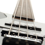 Close up of electric bass guitar. (focus at pickup Royalty Free Stock Photos