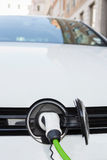 Close Up Of Electric Car Being Charged Stock Image