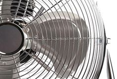 Close up of electric fan. Stock Photo