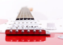 Close-up on an electric guitar Royalty Free Stock Photography