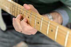 Close up of an Electric Guitar Royalty Free Stock Photos