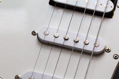 Close up of electric guitar element Stock Photos