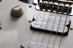 Close up of electric guitar element Stock Image