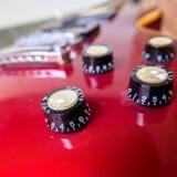 Close up of electric guitar volume knob Stock Photos