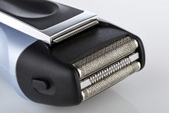 Close up on a electric head shaver Stock Image