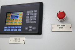 Close up of an Electric meter,Electric utility meters for an apartment complex or offshore oil and gas plant Stock Photos