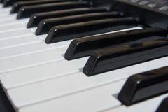 Close-up electric piano Stock Photos