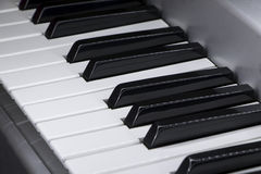 Close-up of electric piano keys Royalty Free Stock Photo