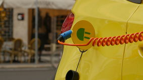 Close up of an Electric Vehicle`s charge port. stock video footage