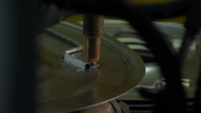 Close-up of electric welding of metal stock footage