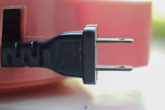 Close up of an electrical plug Royalty Free Stock Photos