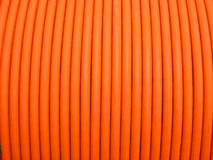 Close-up , electrical wires coil. Close-up , orange electrical wires coil Stock Image