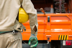 Close-up of Electrician and high voltage tool Stock Photo