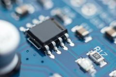 Close-up of electronic circuit board.  stock image