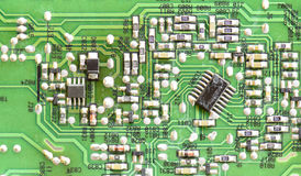 Close up electronic circuit board Stock Images