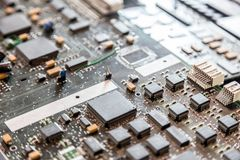 Close up of electronic circuit board. Royalty Free Stock Photos