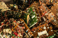 Close up of an electronic circuit board, electronic background Stock Photography