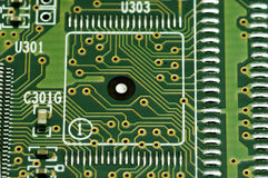 Close-up of electronic circuit board Royalty Free Stock Photo